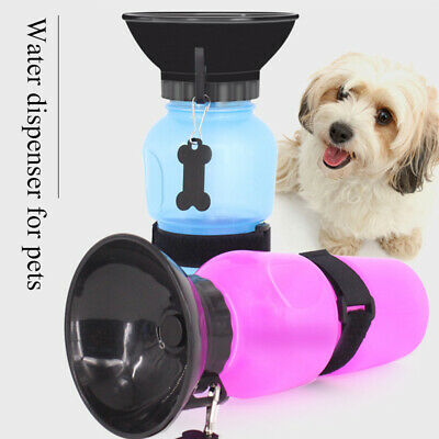 Portable Pet Dog Water Bottle Outdoor Travel Water Drink Cup With Bowl Dispenser