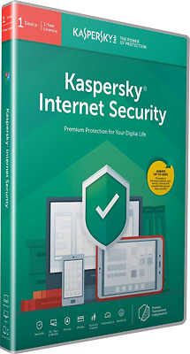 Kaspersky Internet Security 2019 | 1 Device | 1 Year | Retail Pack (by Post/EU)