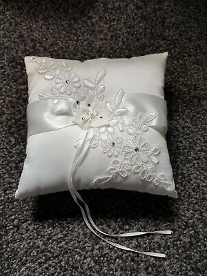 Ivory wedding Ring Cushion Pillow floral