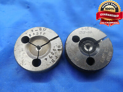 3 56 NF 3 THREAD RING GAGES #3 GO NO GO P.D./'S= .0874 /& .0859 INSPECTION TOOL