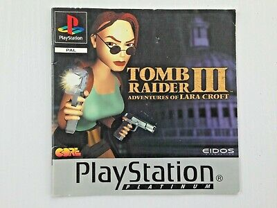 Tomb Raider 3 III~PS1~Playstation 1~ Manual of instructions~excellent condition