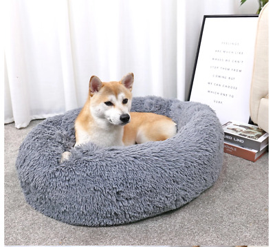 Donut Plush  Pet Dog Cat Bed Fluffy Soft Warm