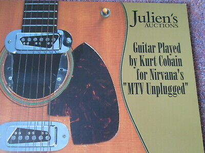 Kurt Cobain  Guitar sales catalogue from Julien's auction