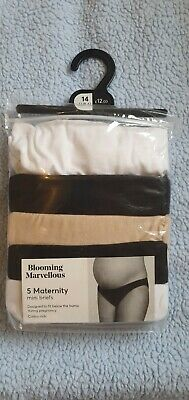 Blooming Marvellous 5 Maternity Knickers Mini Briefs Size 14