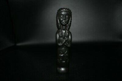 Beautiful Ancient Egyptian Stone Idol/Statue With Ancient Egyptian Amulet