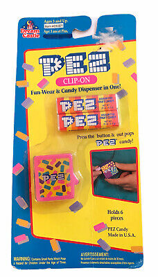 Pink Clip-On Candy Dispenser PEZ MOC From 1994