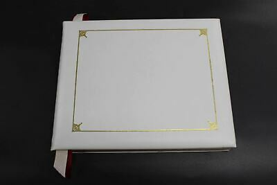 ASPINAL OF LONDON Soft Bound Smooth Pastel Leather Gold Border Guest Book