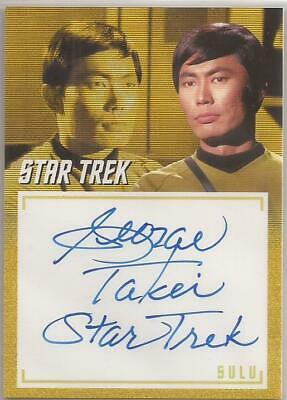 George Takei Inscription Autograph Card Star Trek TOS Archives & Inscriptions