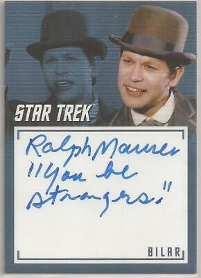 Ralph Maurer Inscription Autograph Card Star Trek TOS Archives & Inscriptions