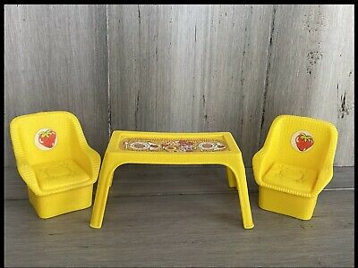 Strawberry Shortcake Garden House Replacement Yellow CHAIR Vintage 1980s Kenner