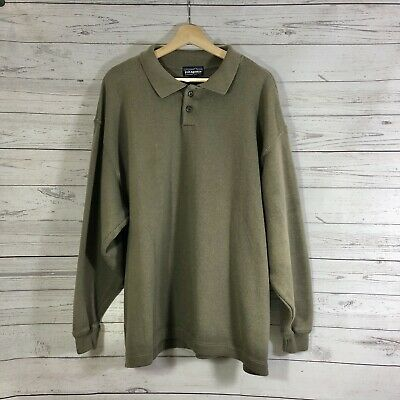 PATAGONIA Men's Olive Green Long Sleeves Collared Pullover Sweater Top Sz XL