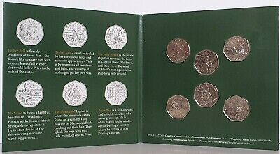 2020 Isle of Man Official Government Peter Pan 50p coin set