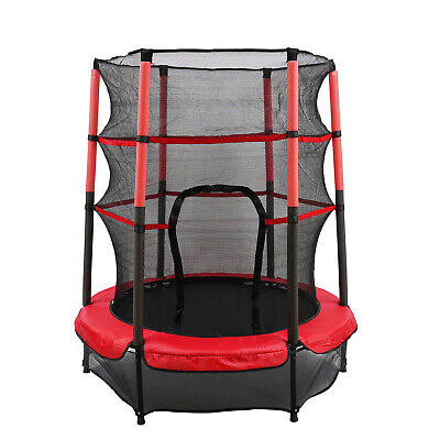 Kinder Trampolin Indoor Outdoor Gartentrampolin 50KG Ø 140cm +Sicherheitsnetz DE