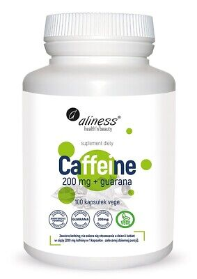 ALINESS Caffeine 200 mg + guarana x 100caps - Energy Pre Workout and Weight Loss