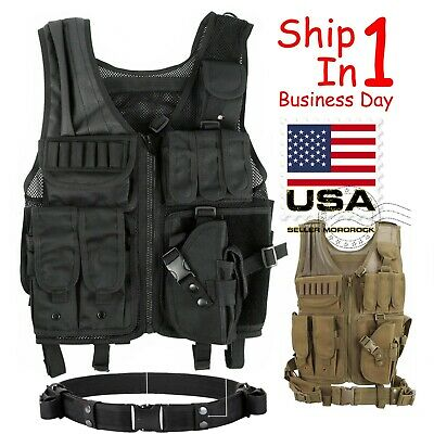 Tactical Vest Military Plate Carrier Molle Police Airsoft Combat Assault Gear