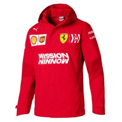 JACKET Scuderia Ferrari F1 Team Mens Coat Mission Winnow Formula One New!