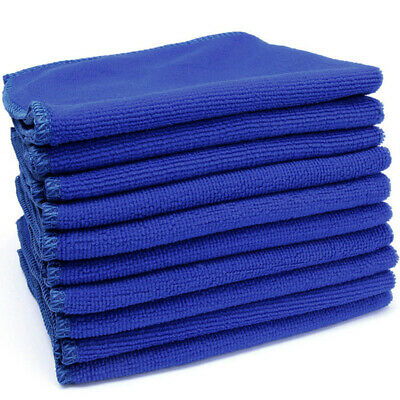 10 X Large Microfibre Cleaning Auto Car Ultra Soft Cloths Wash Towel Duster New