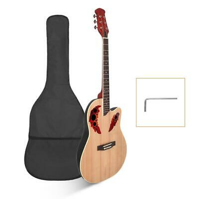 """New 41"""" Right Handed Acoustic Guitar with Bag Burlywood"""
