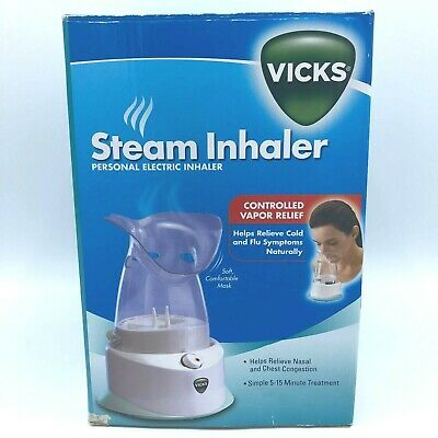 Details about Vicks Portable Steam Vapor Inhaler Humidifier Personal Flu Therapy New