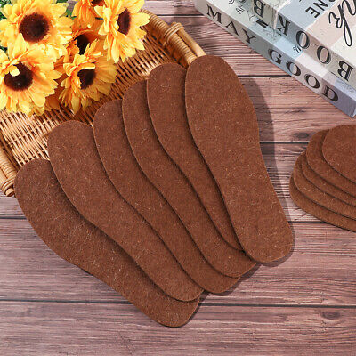 Winter Warm Wool Thicken Plush Insoles Cashmere Pad Woollen Shoes Pads