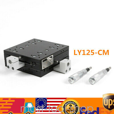 2 Axis XY Manual Linear Stage Trimming Platform 125*125mm Bearing Turning Table