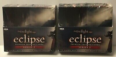 Lot Of 2 Sealed Twilight Eclipse Trading Card Box Neca - 24 Packs Each