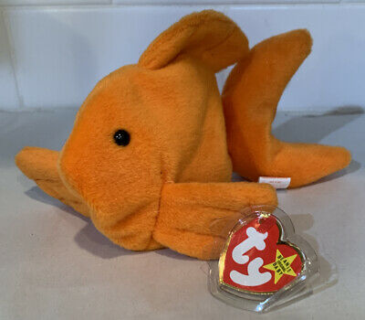 1993 TY BEANIE BABIES BABY GOLDIE retired W//Tags PVC Pellets