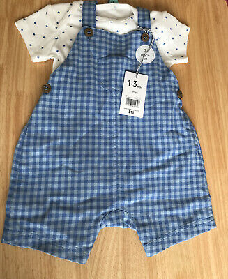 Baby Boys MOTHERCARE Heritage Knitted Dungarees 1 Month//6-9 /& 9-12 Months BNWT