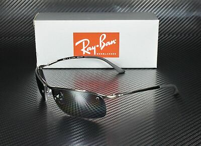 RAY BAN RB3183 004 82 Gunmetal Polarized Grey Silver Grad 63 mm Men's Sunglasses