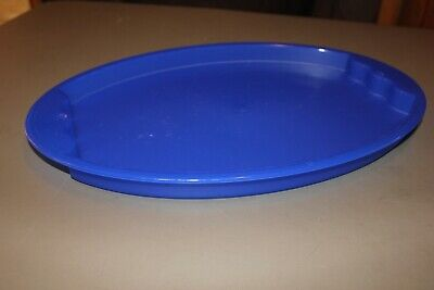 Tupperware impressions blue serving tray