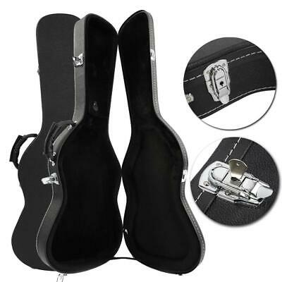 New Microgroove Artificial Leather ST Electric Guitar Hard Shell Case Black