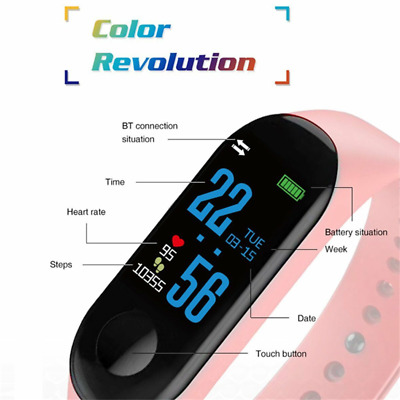 2020 Smart Watch Phone Bluetooth Heart Rate Blood Pressure Sport Fitness Tracker