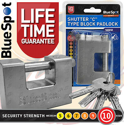 KEYED DIFFER* HEAVY DUTY SHIPPING CONTAINER CHAIN PADLOCK 74MM X 2 WITH 5 KEYS