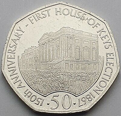 2017 Isle of Man House of Keys 150th Anniversary 50p coin - Circulated