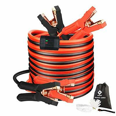 Jumper Cables Heavy Duty Booster Cables for Car Battery Jump Starter Dead or Weak Automotive Battery Jumper Cables 2 Gauge 16 Feet 1000Amp 2AWG x 16Ft