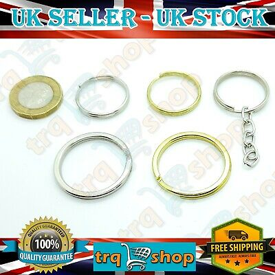 Split Rings Keyring 25-35mm Silver Gold Colours Chain 10-100pc Key Ring Keyrings