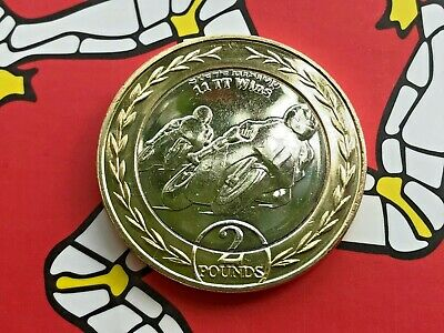 2019 Isle Of Man Steve Hislop £2 Coin UNC v2