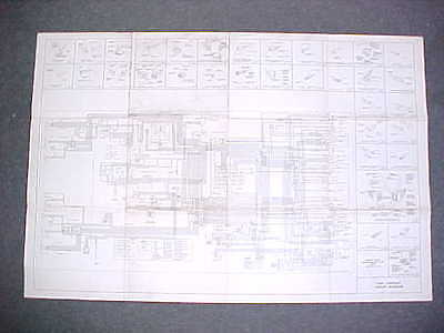 "1965 65 Ford Fairlane Full Color Laminated Wiring Diagram 11/"" X 17/"""