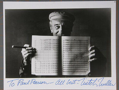 Mitch Miller Autograph photo hand signed inscribed 8 x 10 Black and White