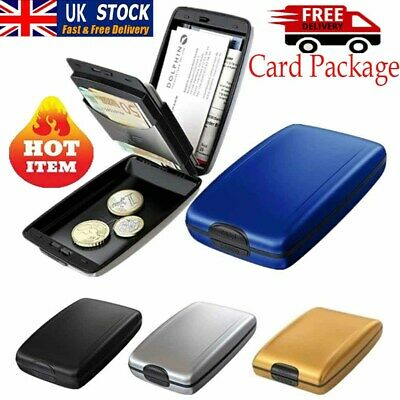 RFID Scan Protected Aluminium Hard Case Credit Card Holder Security Wallet cool