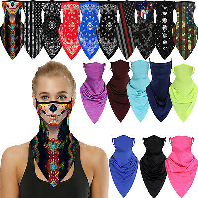Half Face Mask Bandana Tube Head Scarf Neck Gaiter Balaclava Mouth Cover US