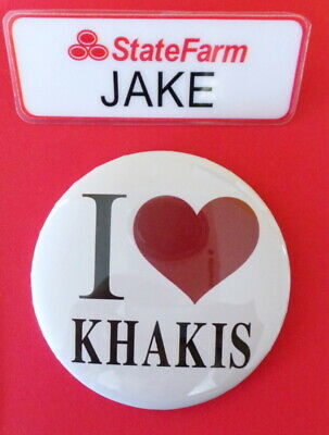 JAKE from STATE FARM Halloween Costume - ACCESSORY KIT name tag funny badge flo