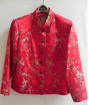 "Asian Chinese Oriental Jacket Chinese Red ""BEAUTIFUL"" GIZMOCOLLECTABLES"