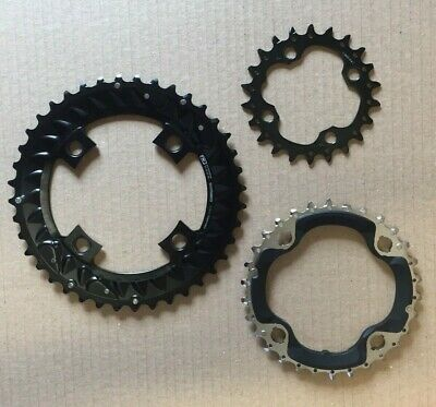 Shimano XTR M9020 Chainrings Triple 11 Speed 22T 30T 40T 4 Bolt 96BCD 64BCD PM14