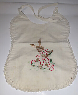 Vintage Embroidered Baby / Doll Bib
