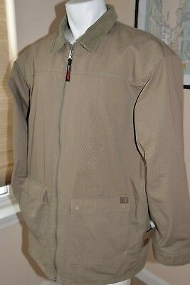 Mens Coat RIGGS WORKWEAR Insulated Durable Twill Work Hunting Camping Jacket XL