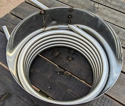 Water heater coil with fireguard - hot tub - outdoor pool - stainless steel