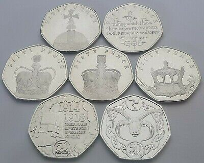 Every Isle of Man 50p coin issued in 2018 - Circulated