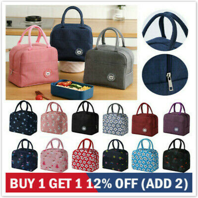 Children Kids Adult Lunch Bags Insulated Cool Bag Picnic Bags School Lunch Box #