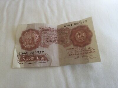 Rare old ten shilling note